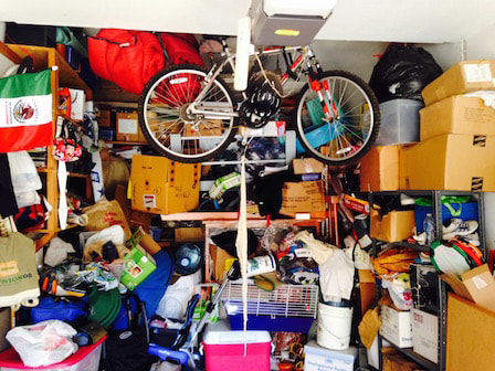 Before Hoarded garage