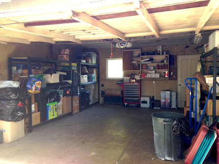 Hoarded garage cleaned up
